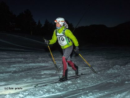 Sophie Dusautoir i Pere Rullan, vencen a la cronoescalada nocturna de l'Àliga