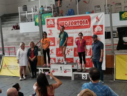LAIA TAULATS, MILLOR ESCALADORA DEL CAMPIONAT DE CATALUNYA D'ESCALADA DE DIFICULTAT EN LA SEVA CATEGORIA sub-14