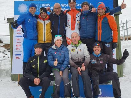 Carles Font, Manel Pelegrina i Joan Turné als WINTER WORLD MASTERS GAMES de INNSBRUCK 2020