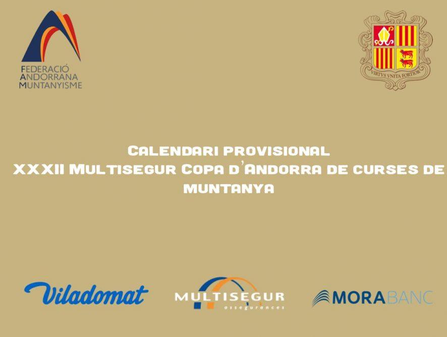 LA XXXII MULTISEGUR COPA D'ANDORRA DE CURSES DE MUNTANYA PRESENTA UN PRIMER CALENDARI DE CURSES