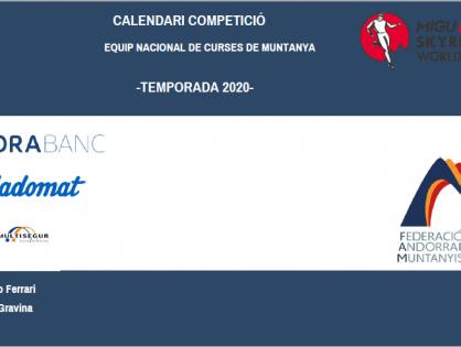 LA FEDERACIÓ ANDORRANA DE MUNTANYISME PRESENTA EL CALENDARI INTERNACIONAL PROVISIONAL  QUE DISPUTARÀ L'EQUIP NACIONAL 2020