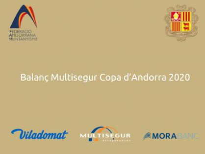 LA FEDERACIÓ ANDORRANA DE MUNTANYISME TANCA L'EDICIÓ MÉS ATÍPICA DE LA MULTISEGUR COPA D'ANDORRA 2020