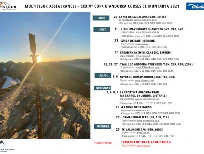 LA XXXIVª MULTISEGUR ASSEGURANCES COPA D'ANDORRA DE CURSES DE MUNTANYA PRESENTA UN CALENDARI AMB ONZE PROVES PER A TOTS ELS PÚBLICS
