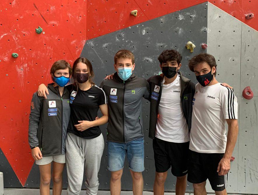L'equip d'Escalada juvenil de la FAM competeix a la segona prova de la Copa d'Espanya de Dificultat Juvenil i Absoluta 2021